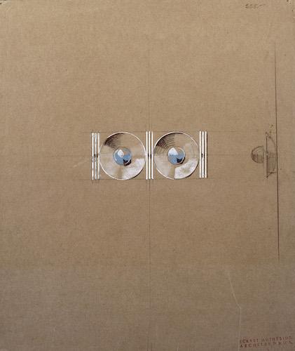 Wall light sketch, Eckart Muthesius, ca 1930