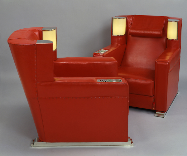 Pair of Armchairs with integrated light, Eckart Muthesius, 1931