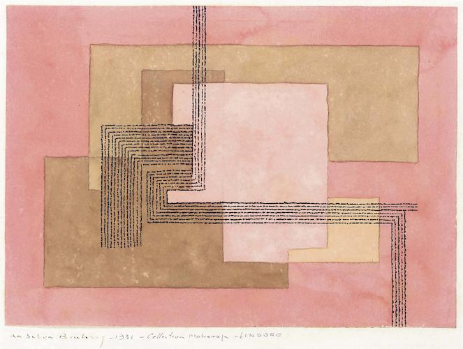 Sketch for carpet 1021, Ivan Da Silva Bruhns, ca 1931