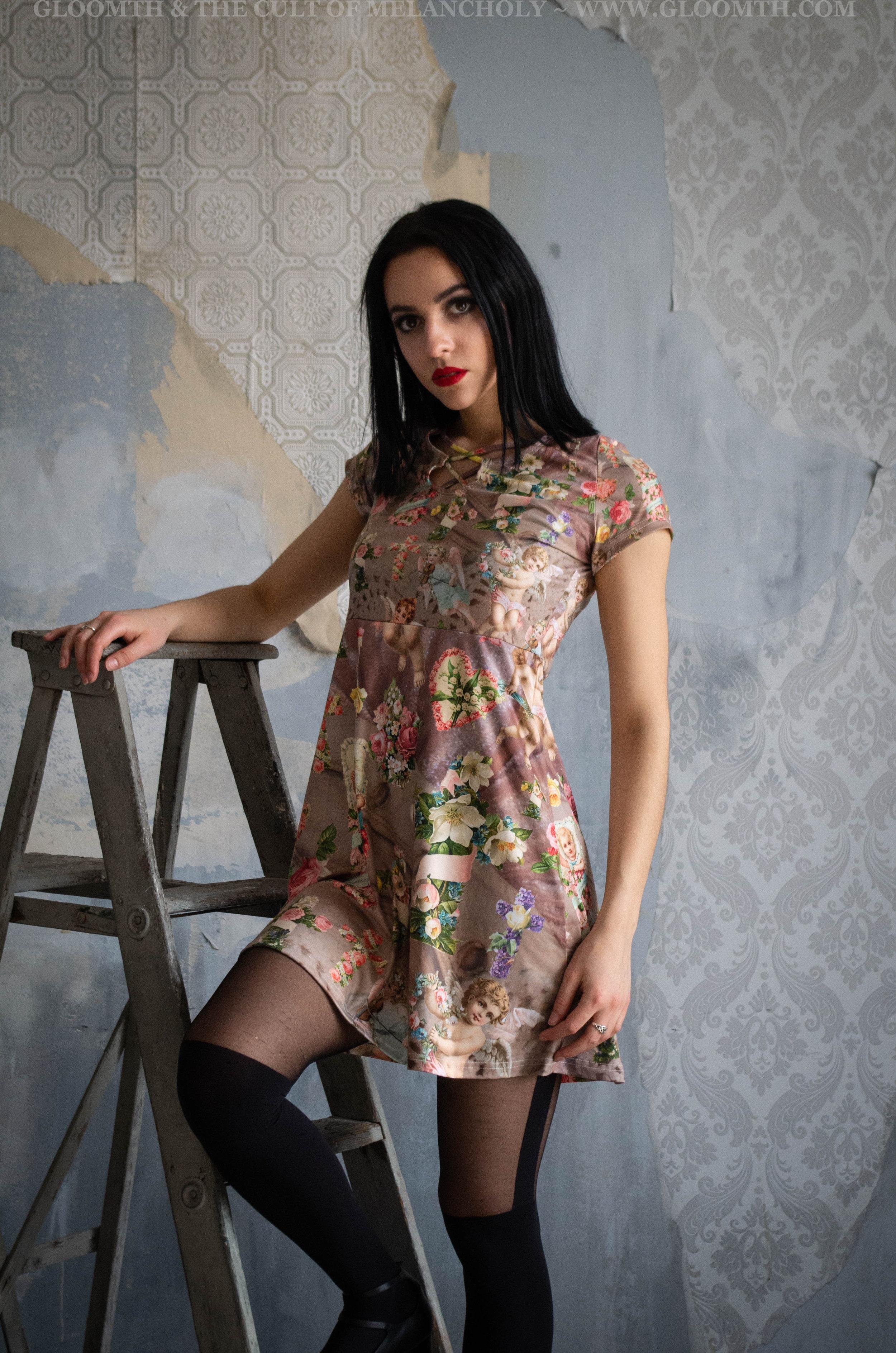 Cherub Print Dress