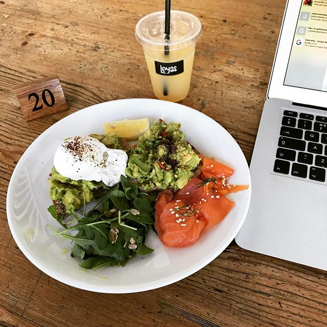 No excuse for not starting the week strong 💪🏼💪🏼 Perfect brunch to accompany some of the office work. #Monday #breakfast #coffee #brunch #emails