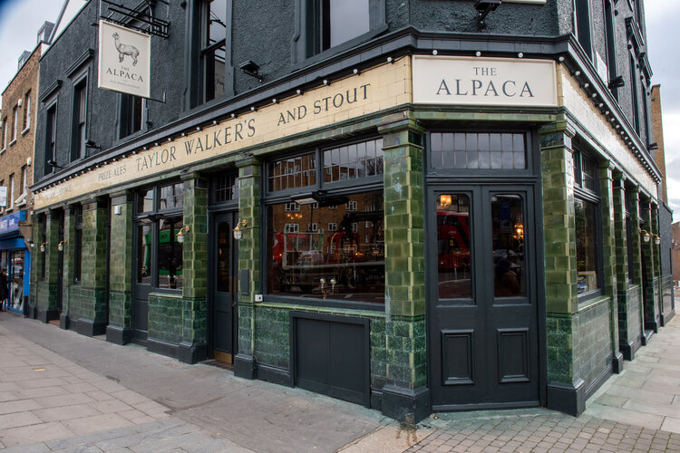 Outside of The Alpaca Pub, Essex Road