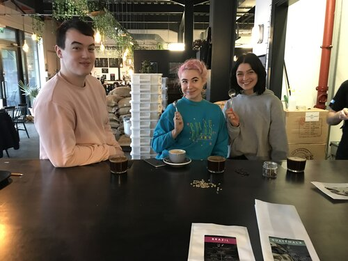 customers enjoying saint espresso coffee