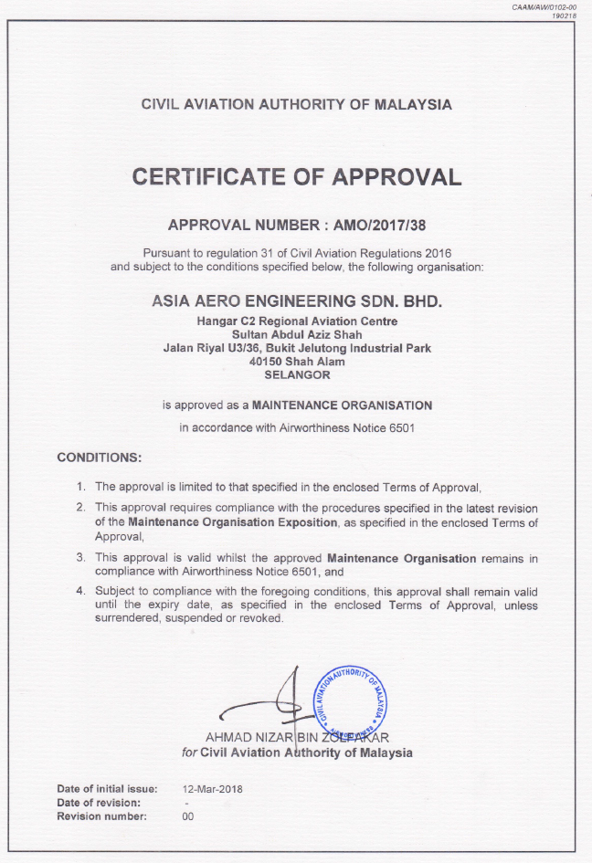 CERTIFICATE OF APPROVAL AMO.2017.38 EXPIRY 11 ,ARCH 2019.PNG