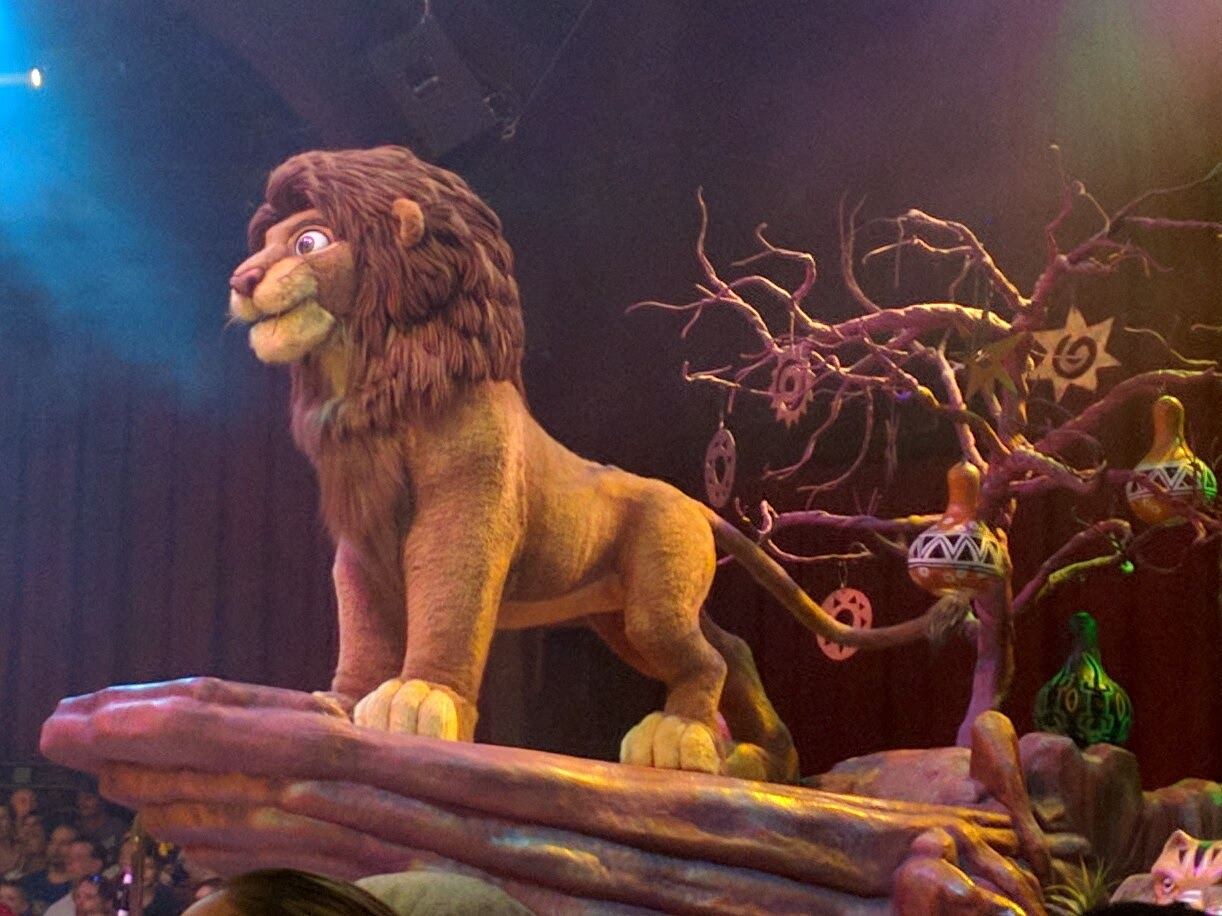 Simba is a large animatronic at Animal Kingdom, and need not leave Pride Rock to be cool.