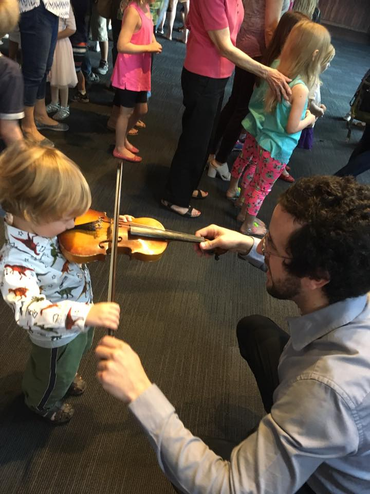 The Orlando Symphony's Storytime combines seeing live musicians with interactive pre- and post-show elements — like touching and playing an instrument.