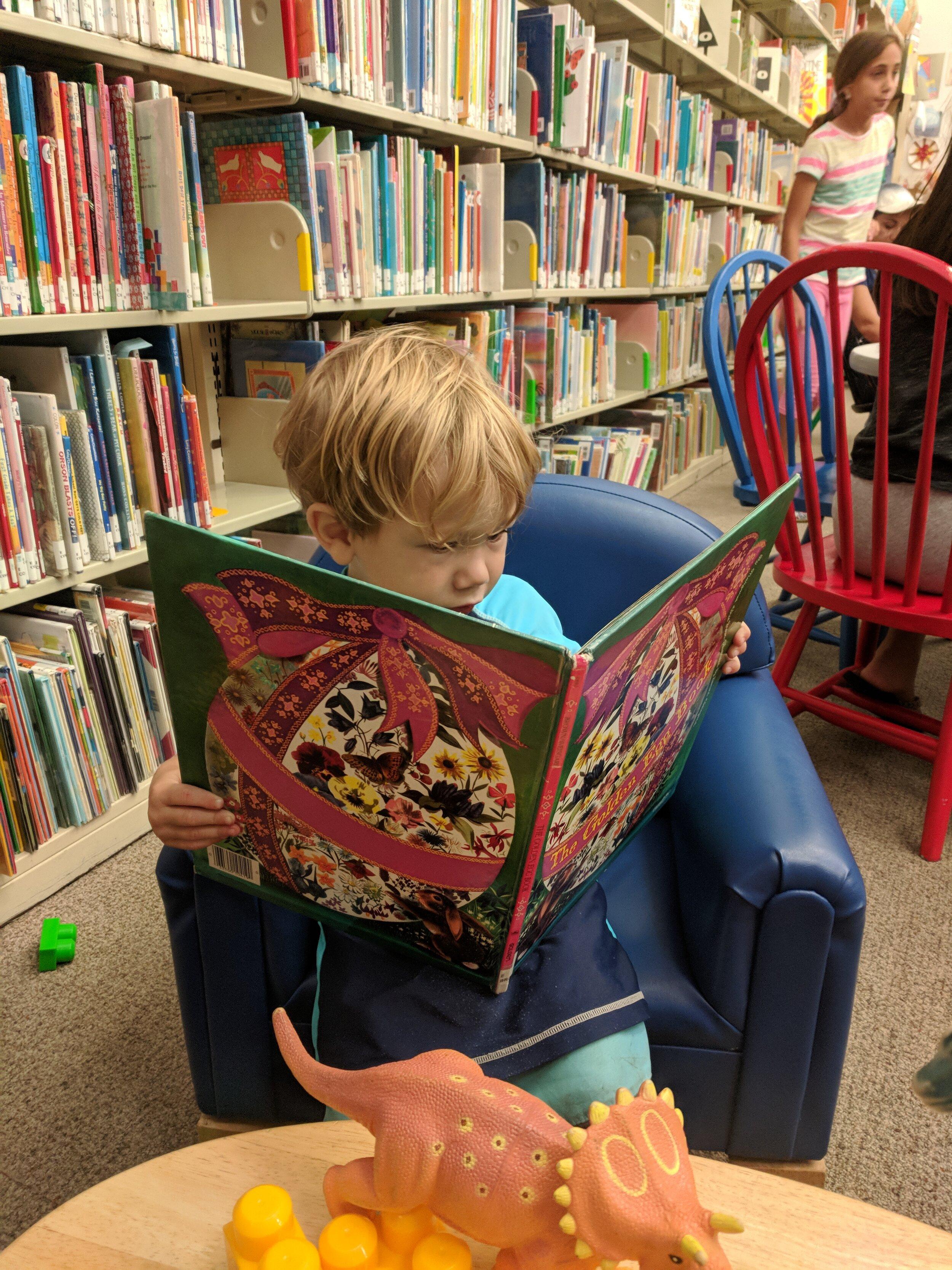 B reading at library.jpg