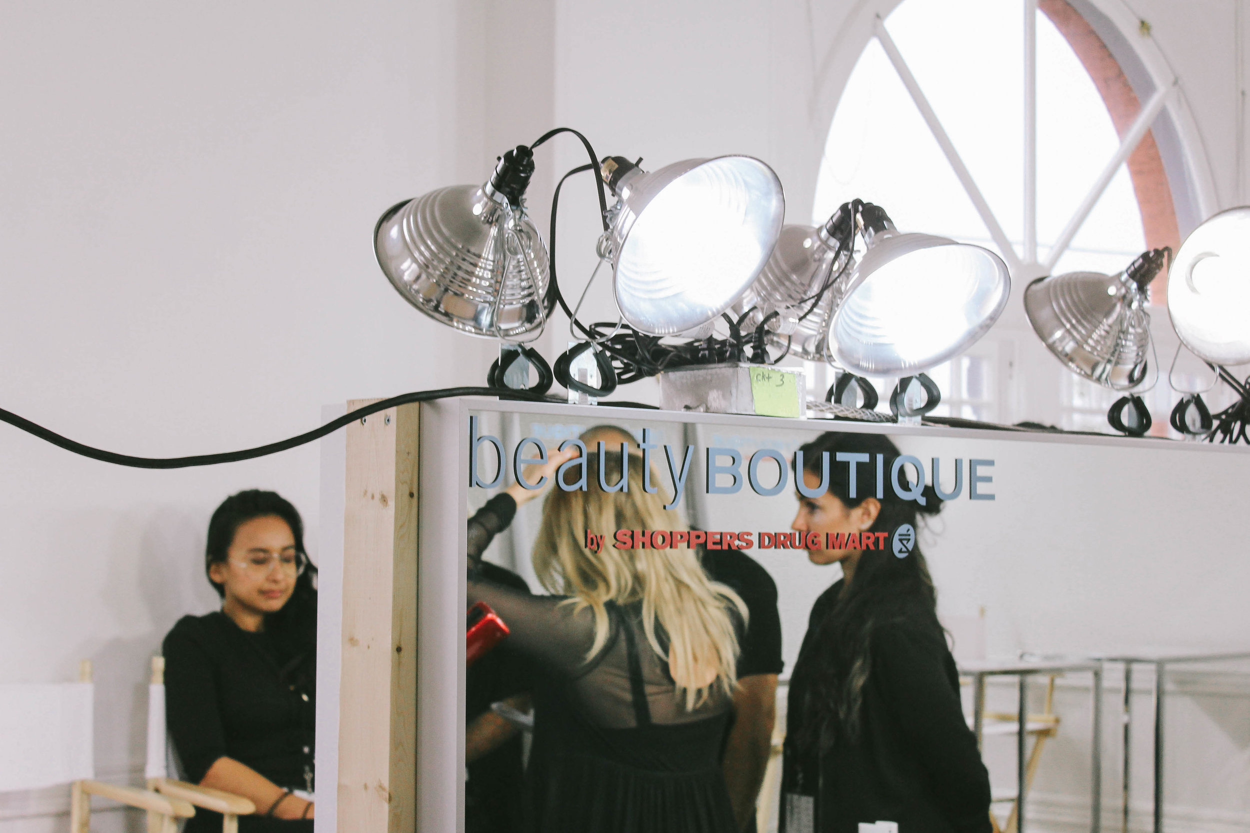 Behind-the-scenes photography at the Beauty Boutique by Shoppers Drug Mart at RE\SET™