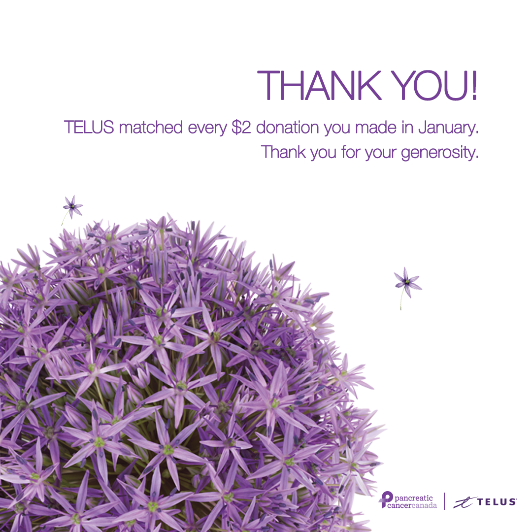 Pancreatic Cancer Canada and TELUS partnership graphic