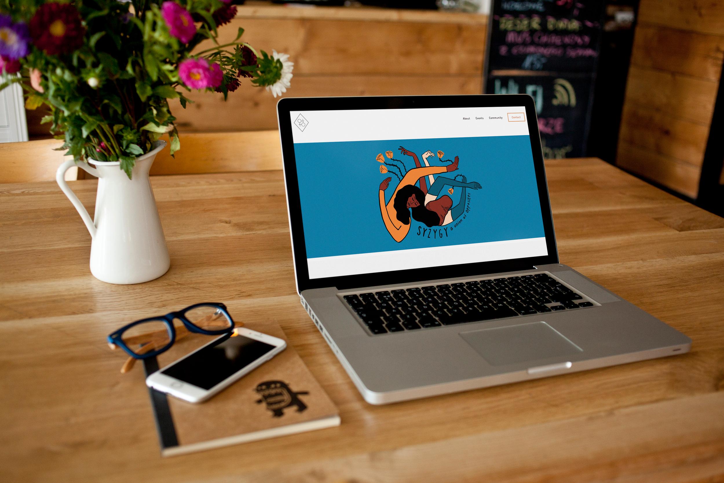 Syzygy's website design