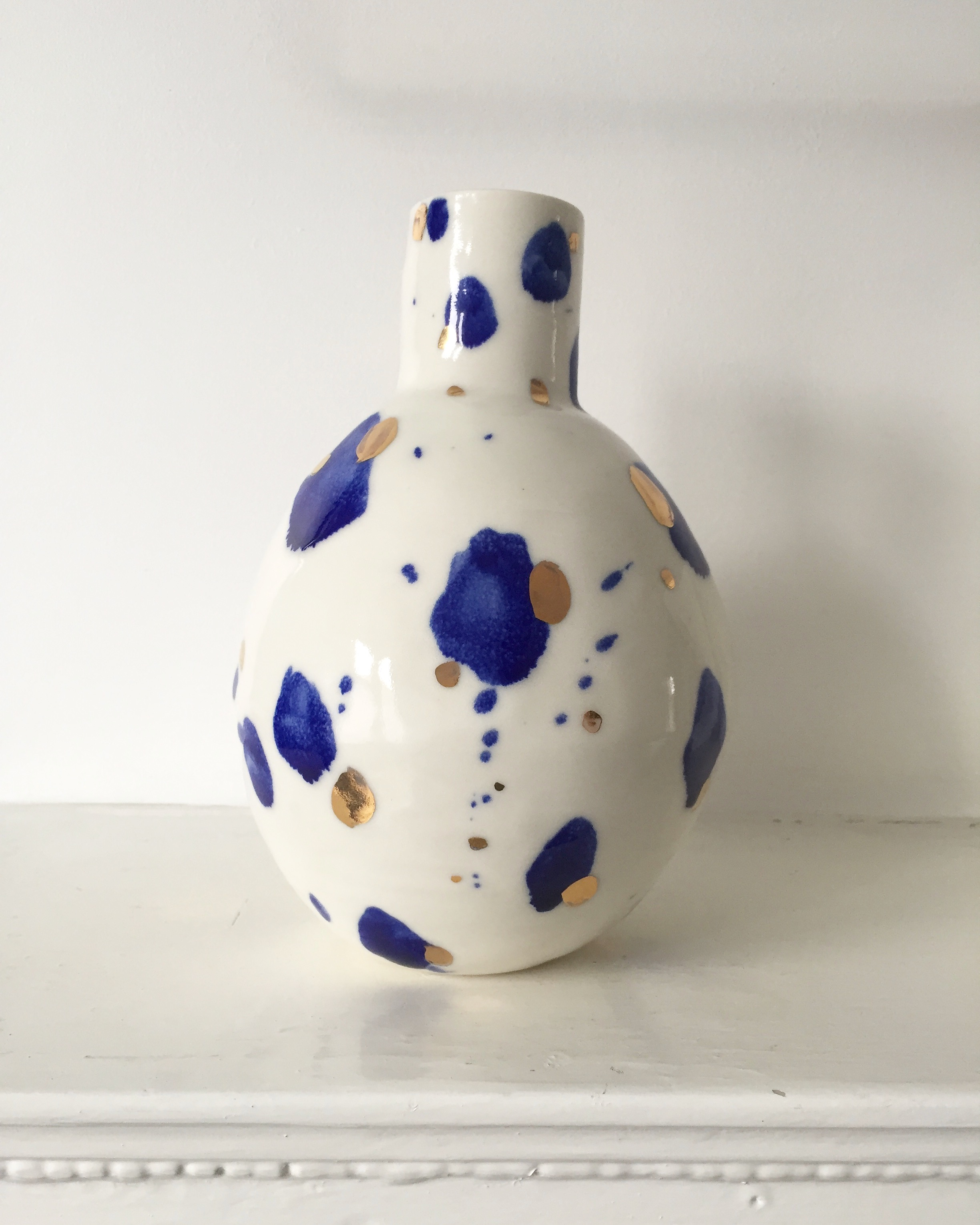 Large Splodge Vase  20 to 22 cm tall