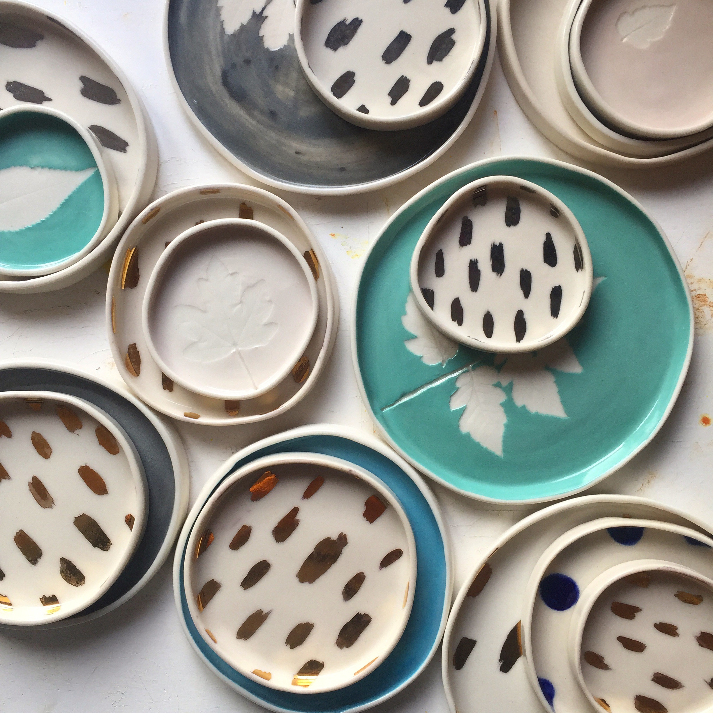 Various Handmade Porcelain Dishes