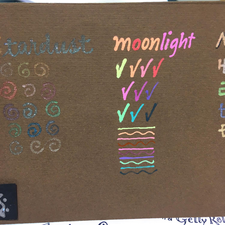Sakura Gel Pen Samples - Moonlight