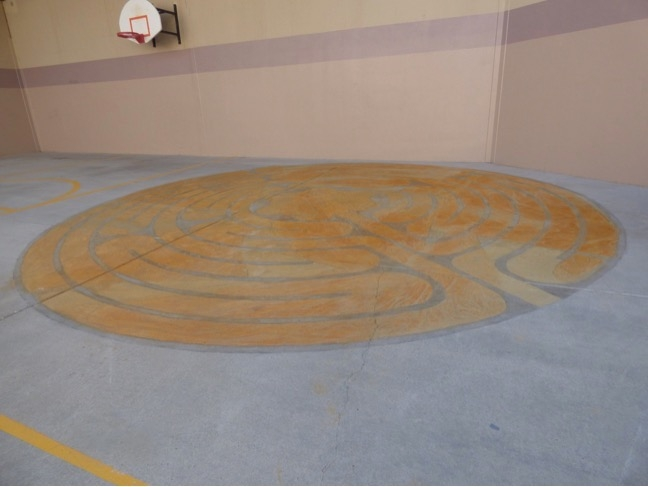 Permanent labyrinth at the Santa Fe County Adult Detention Facility, est. 2016.