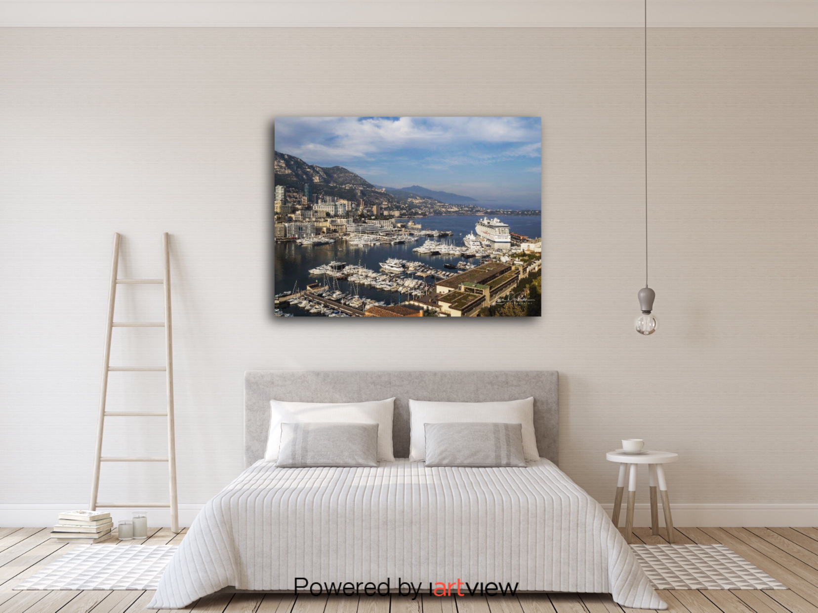"""Monaco From Above"" (shown hanging) by Lisa DeRea Photography"