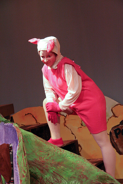 """Ashlea as Piglet in """"Winnie the Pooh"""" at DJT in 2009."""