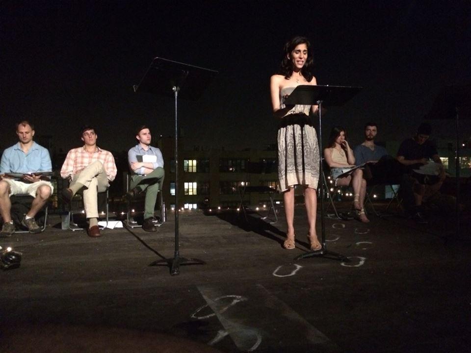 Pooya Mohseni led a reading of Medea. -