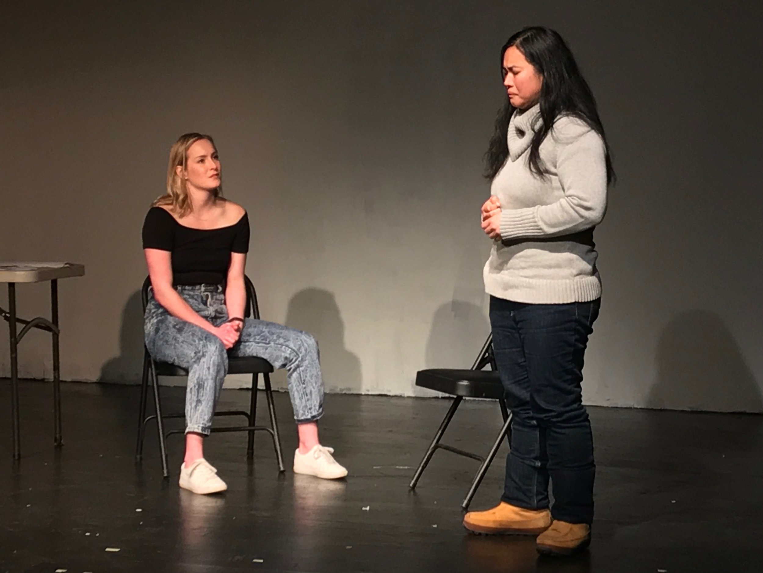 Ginna Le Vine & Cherry Lou Sy in  Possessed is a Verb
