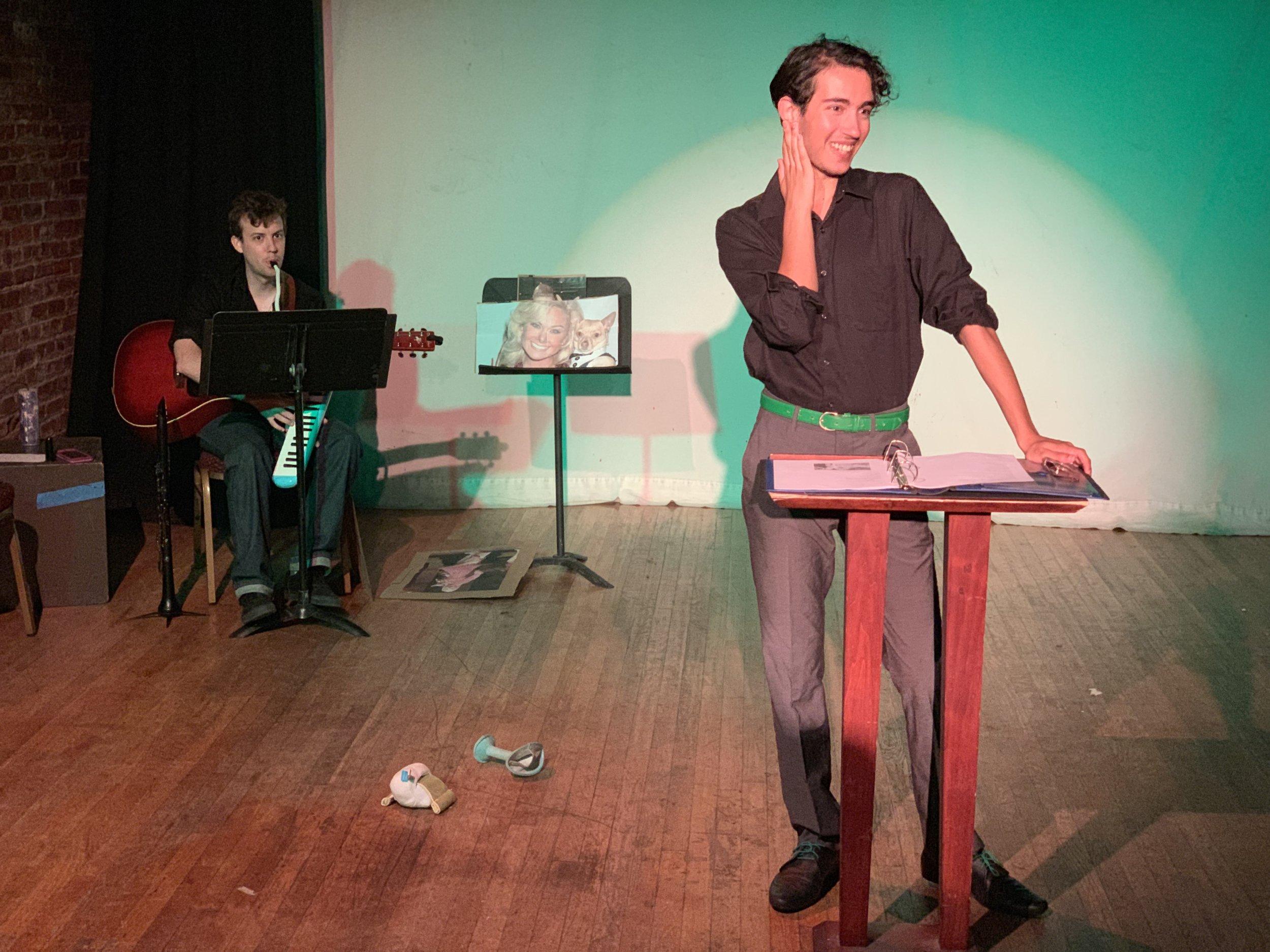 Ben Moniz and Jamie Lowenstein in A Prayer for Chico by Chris Tyler