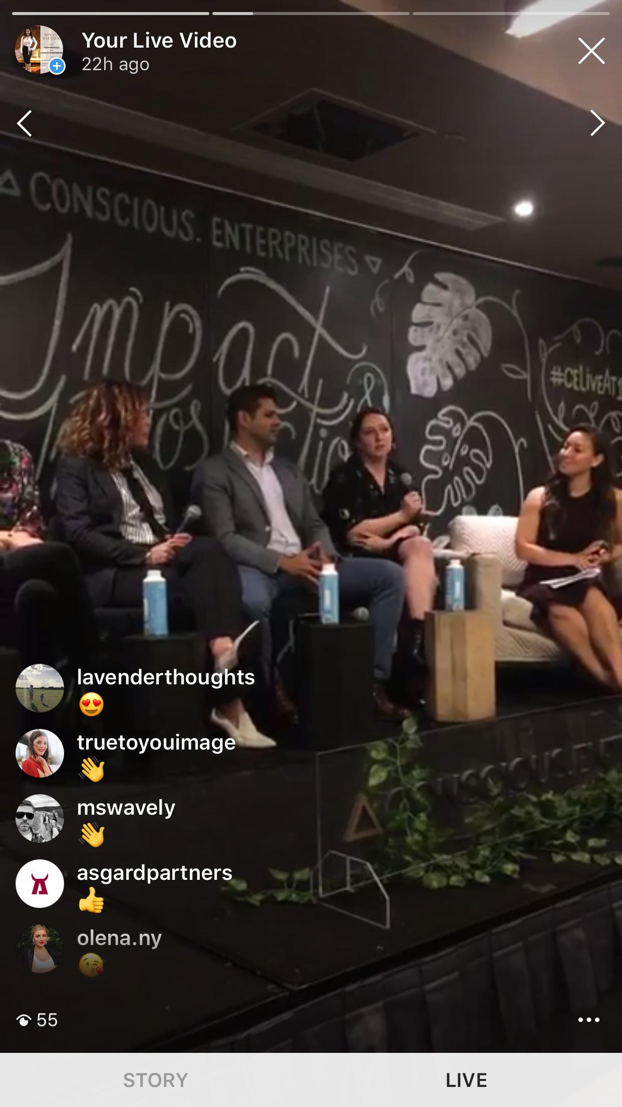 Instagram Live Feed of Conscious Enterprises LIVE @ 1 Hotel