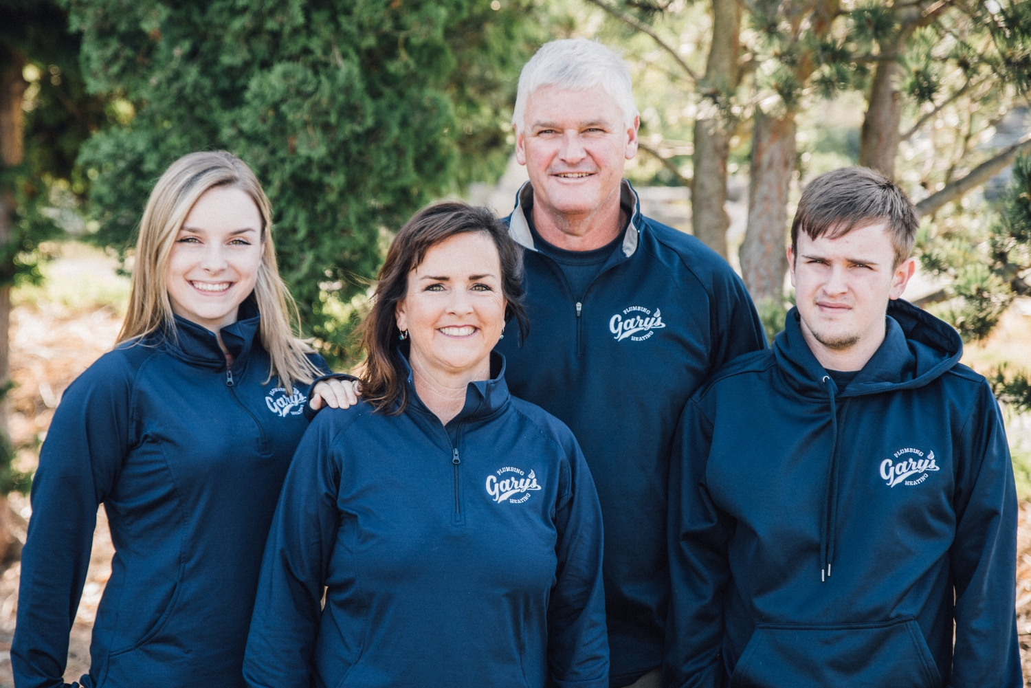 The whole Gibb family works at Gary's - Mary and Sarah in the office, Will in the shop, and Gary training the team and giving customer care.