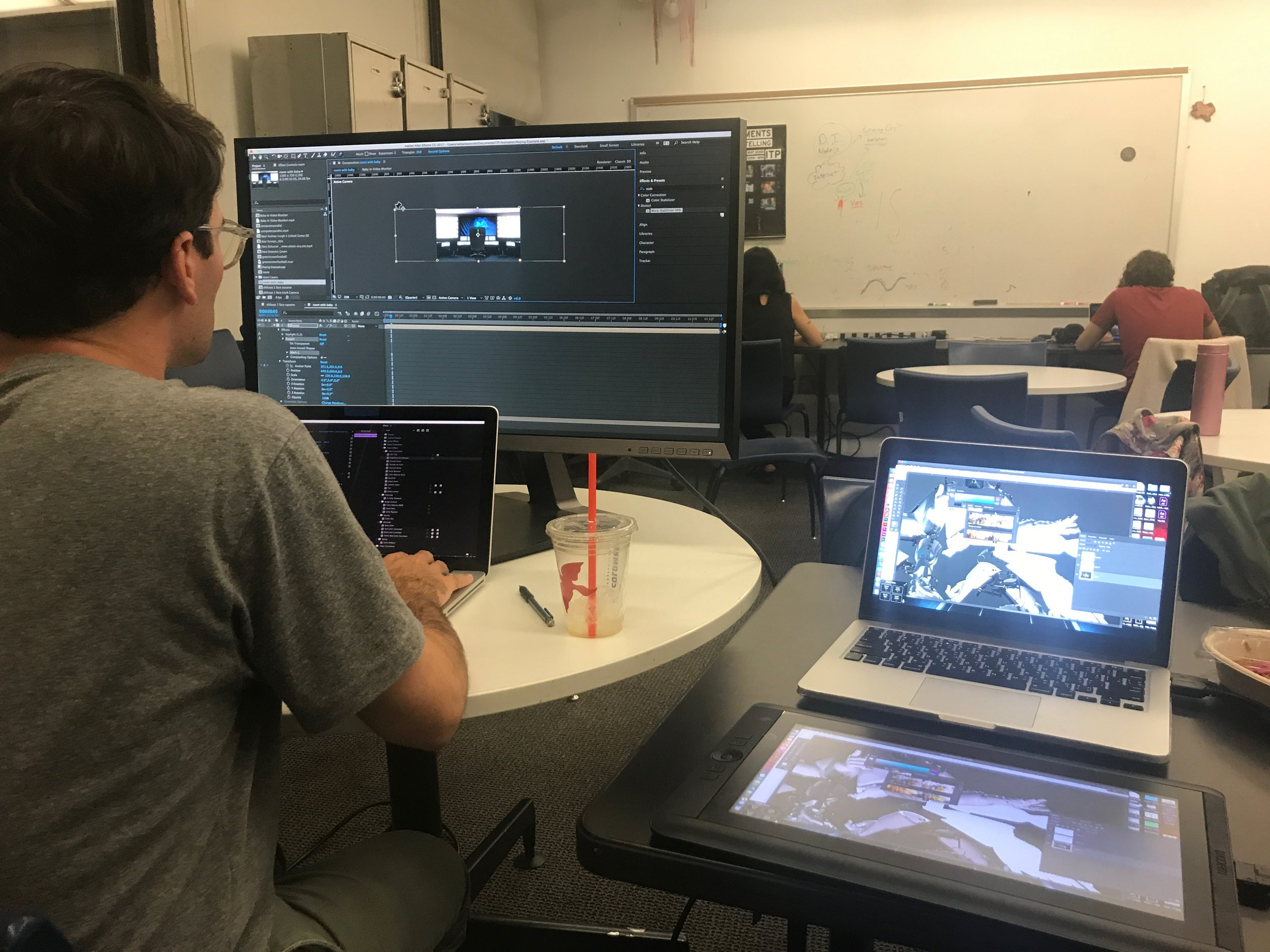 Me and Billy set up our working space in 4th floor of ITP.