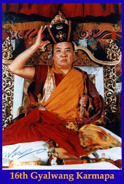 Rangjung Rigpe Dorje -The !6th Karmapa -Black Hat Ceremony