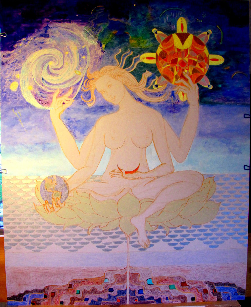 Four-armed deity--unfinished stage