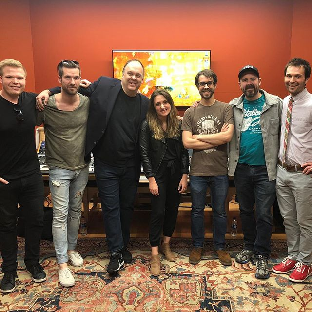 What an incredible week - I don't even know how to put it into words. We spent this whole week in the studio with Rob Mathes, getting to hear his advice and experiences and to record with him. I know I am already a better songwriter because of our time with him, and that our album is going to go to a whole new place. It was so fun getting to see the @marbleloungerecords students be challenged and get to grow this week, too. What a wild ride this has been. ❤️ cjb