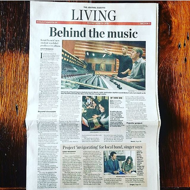 Pick up a copy of the Journal Gazette in Fort Wayne today to read a great article about our upcoming album and all the hard work the @marbleloungerecords and @meta_usf have done.