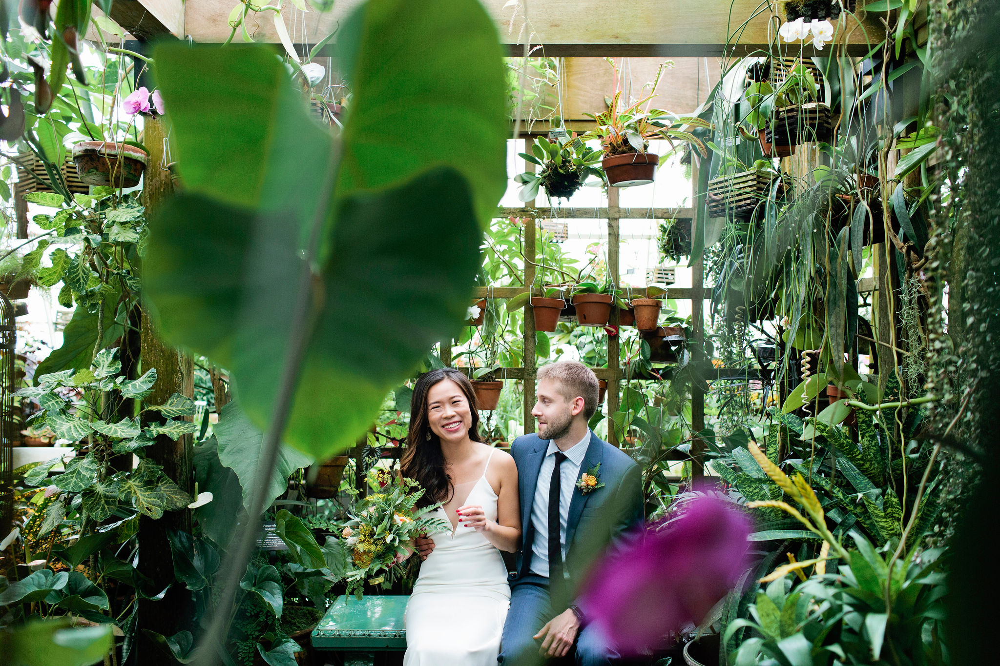 San Francisco Conservatory of Flowers Wedding // Linda +