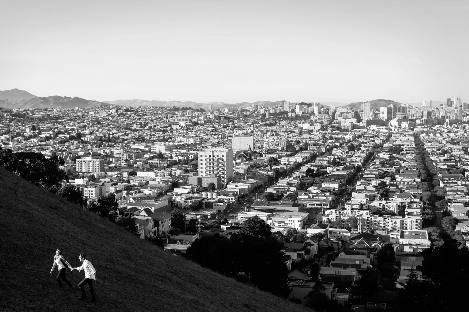 Alisha and Alan during their Bernal Hill engagement session.
