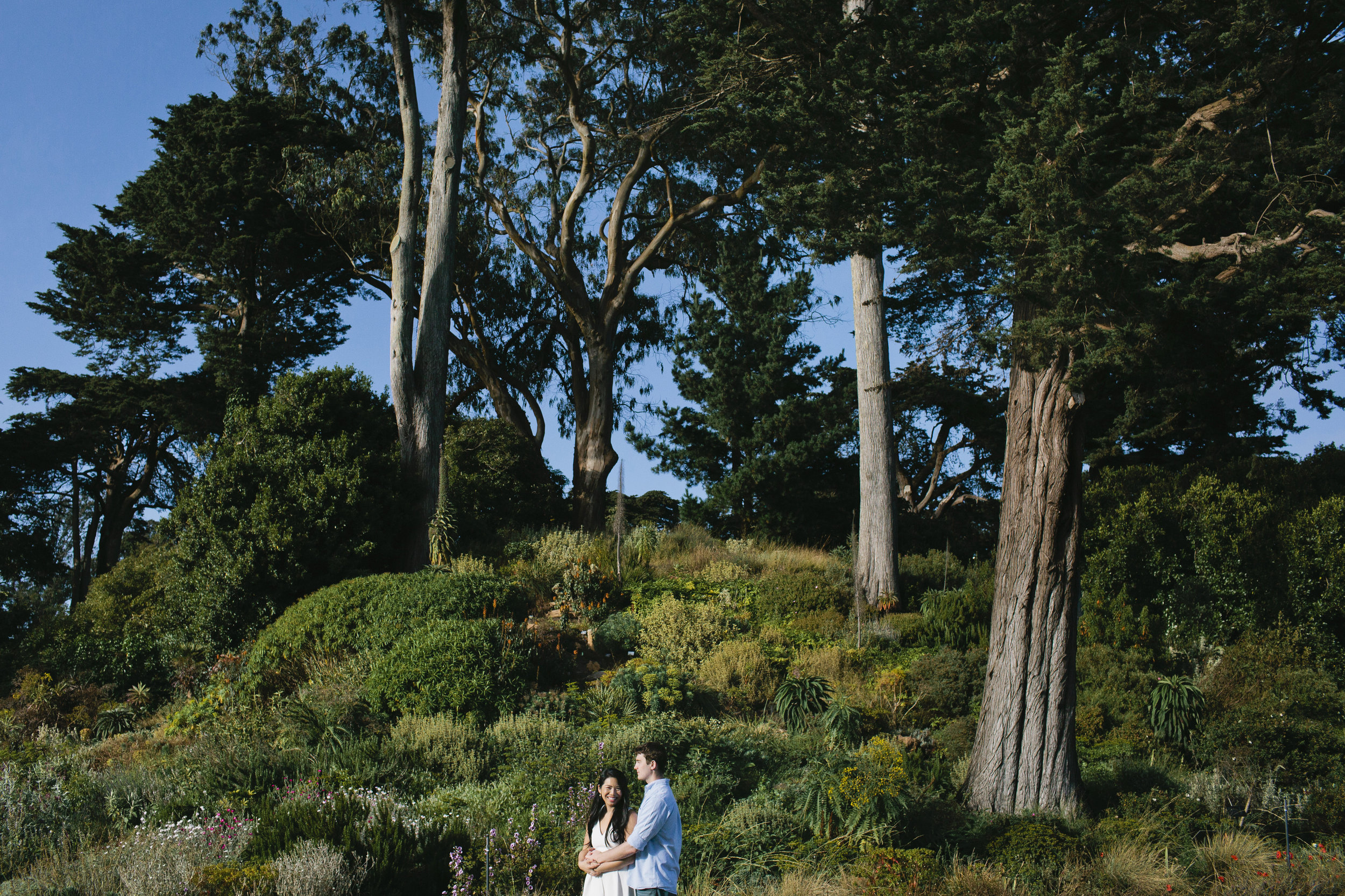 Jenn and Landon had a Botanical Gardens engagement session in Golden Gate Park.
