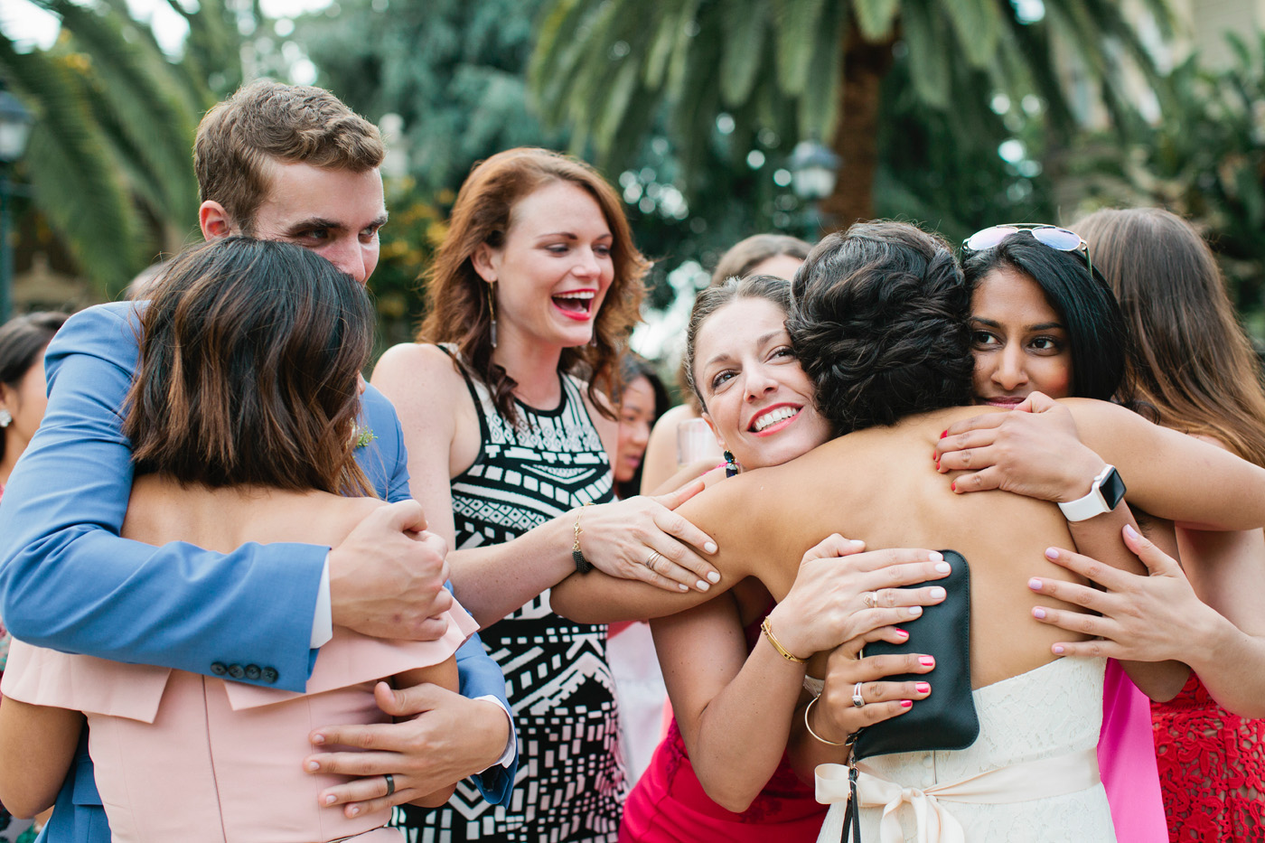 Maria and Solon get all the love from their guests at their Oakland wedding.