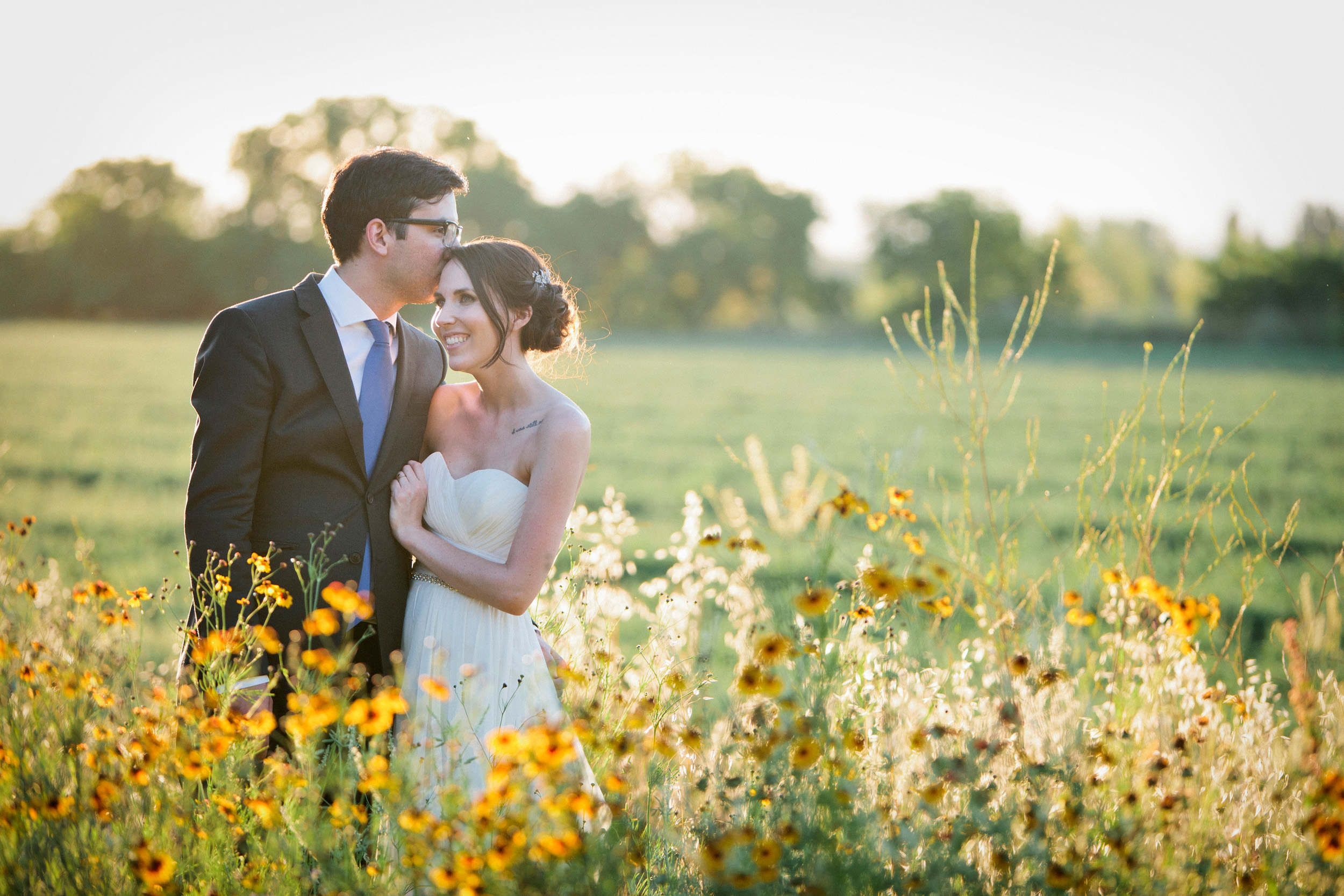 Elin and Cody in the field next to Inn at Park Winters during May.
