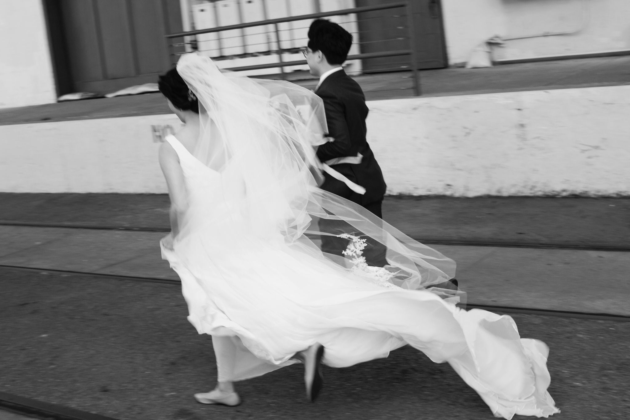 We love hearing our clients' ideas. When we scouted, our bride Randa mentioned that she liked photos with motion so we made it a priority to get photos with movement on her's and Chrisna's wedding day.