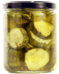 BREAD & BUTTER   Our sweet and savory Bread and Butter pickles are just like the ones nonna used to make. Packed with character and ready for any relish tray or late-night snack.