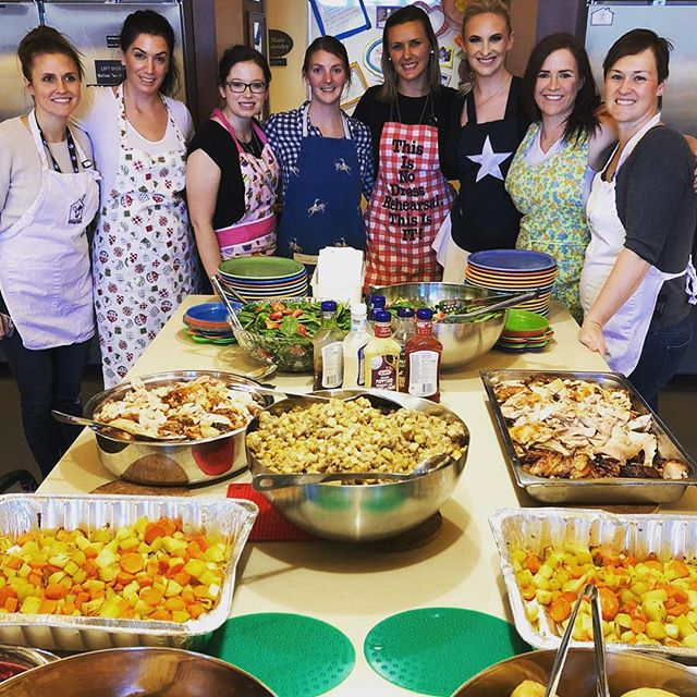 Happy Thanksgiving from all the ladies at CPC Mount Royal 🍁🍂 Yesterday, this amazing crew prepared thanksgiving dinner for the families at Ronald McDonald House. We are so grateful to have had this experience. A huge thank you to Lauryn R for all her hard work and organizational skills and another huge thank you to everyone that volunteered their time #grateful #thanksgiving