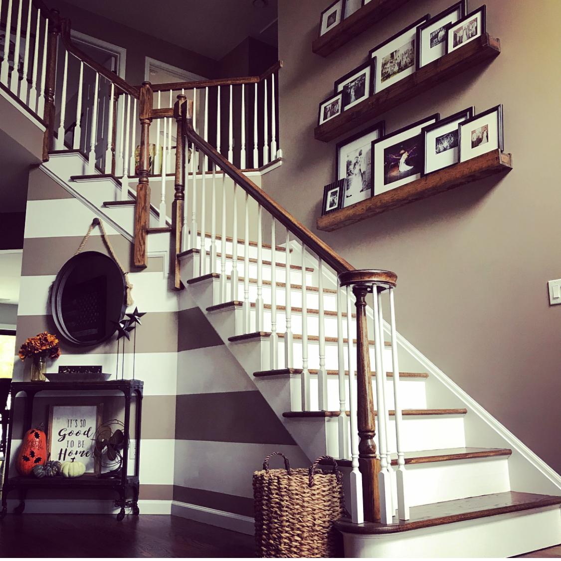 DIY Stripes+Shelves