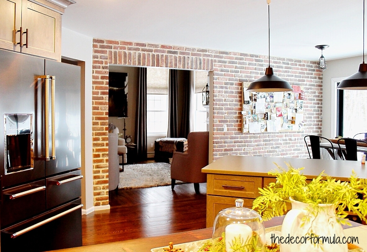 Diy Brick Wall How To Create A Fake Real Exposed Brick Wall The Decor Formula