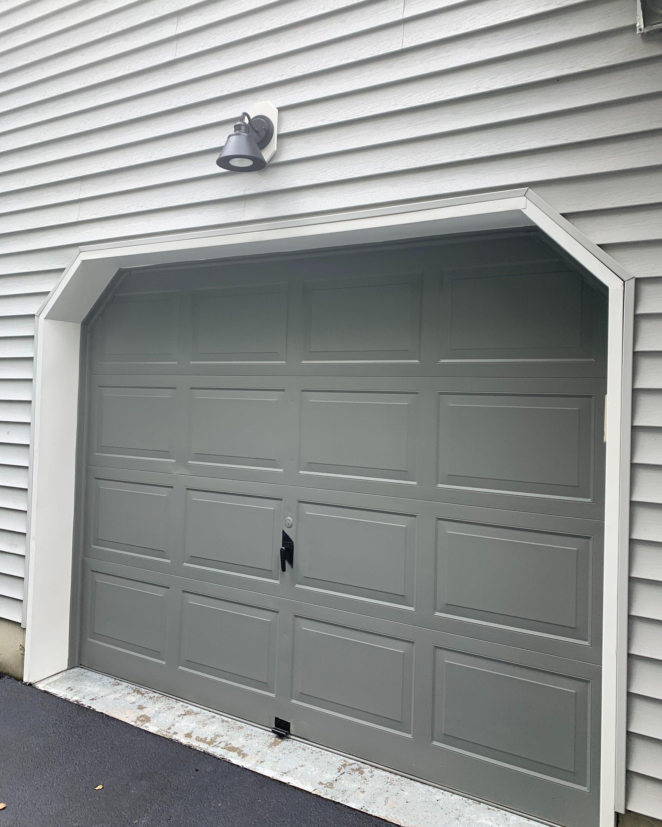Garage Door Makeover The Details Of My Garage Door Paint Job The Decor Formula