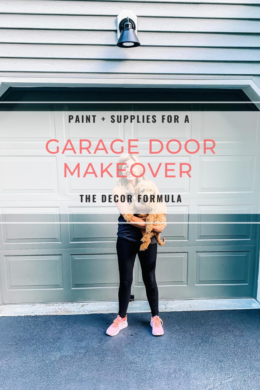 Garage Door Makeover Paint Your Garage Doors The Decor Formula