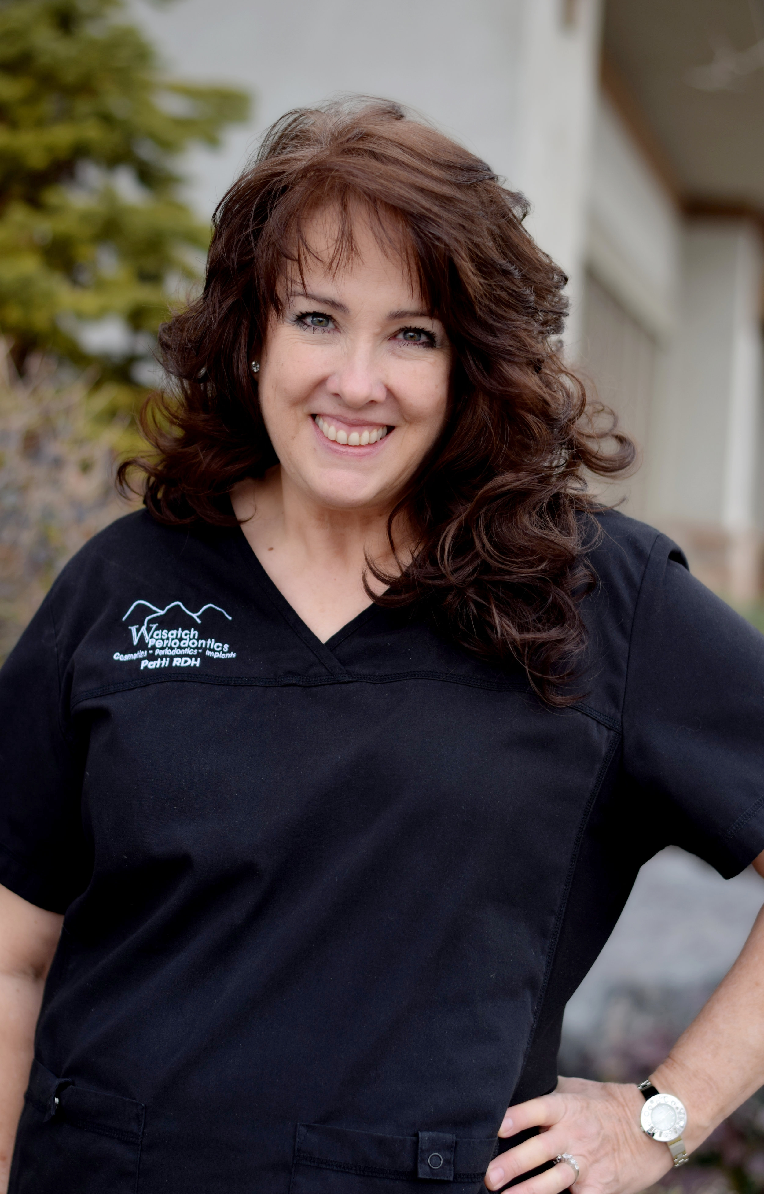 Patti - Patti has been a hygienist with us for twelve years, and she enjoys every patient she gets to work with. She's a graduate of Weber State University, and loves to be with her family. She enjoys being outside, and would hike every day if she could. She also enjoys pickleball and racquetball.