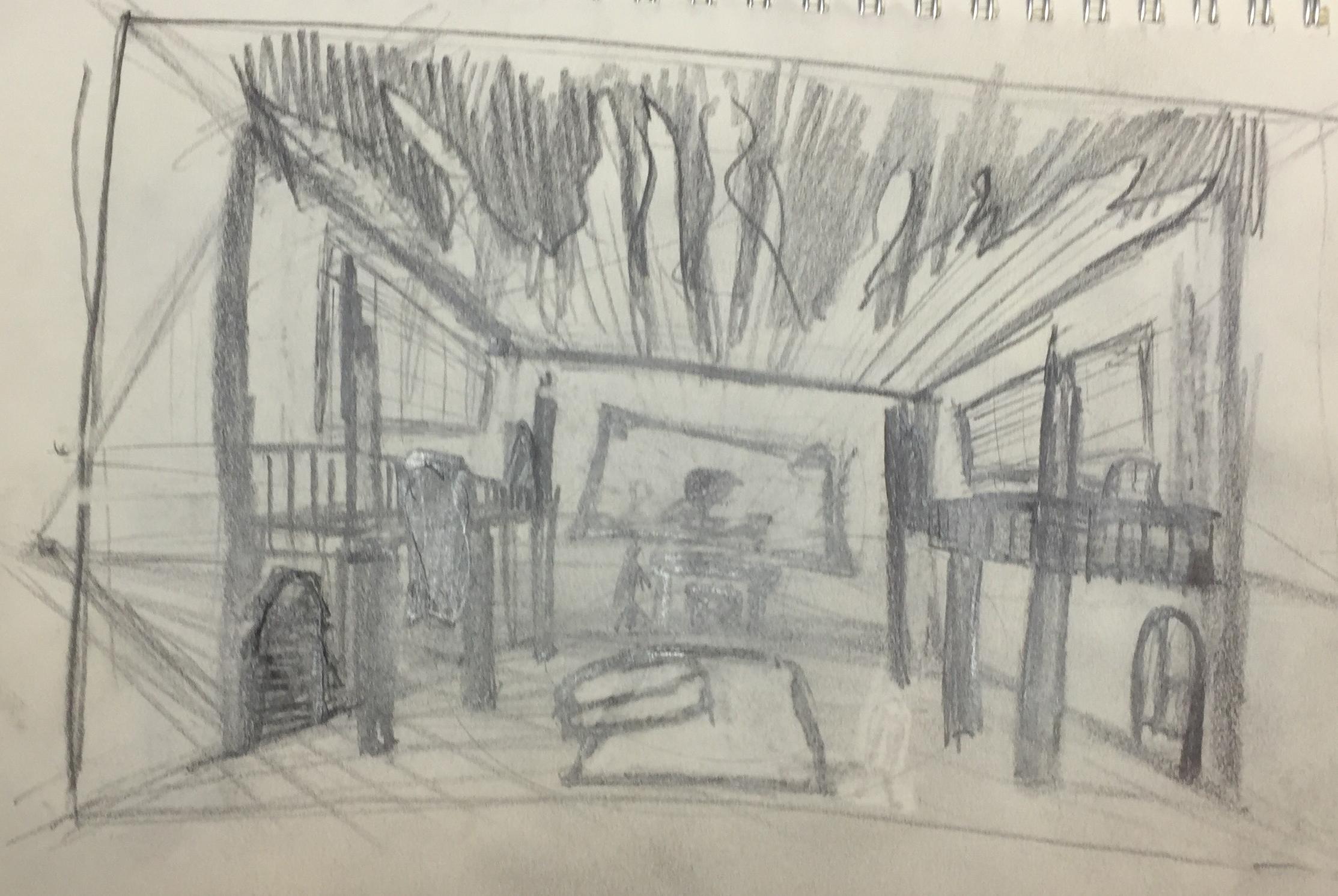 Sketch in pencil