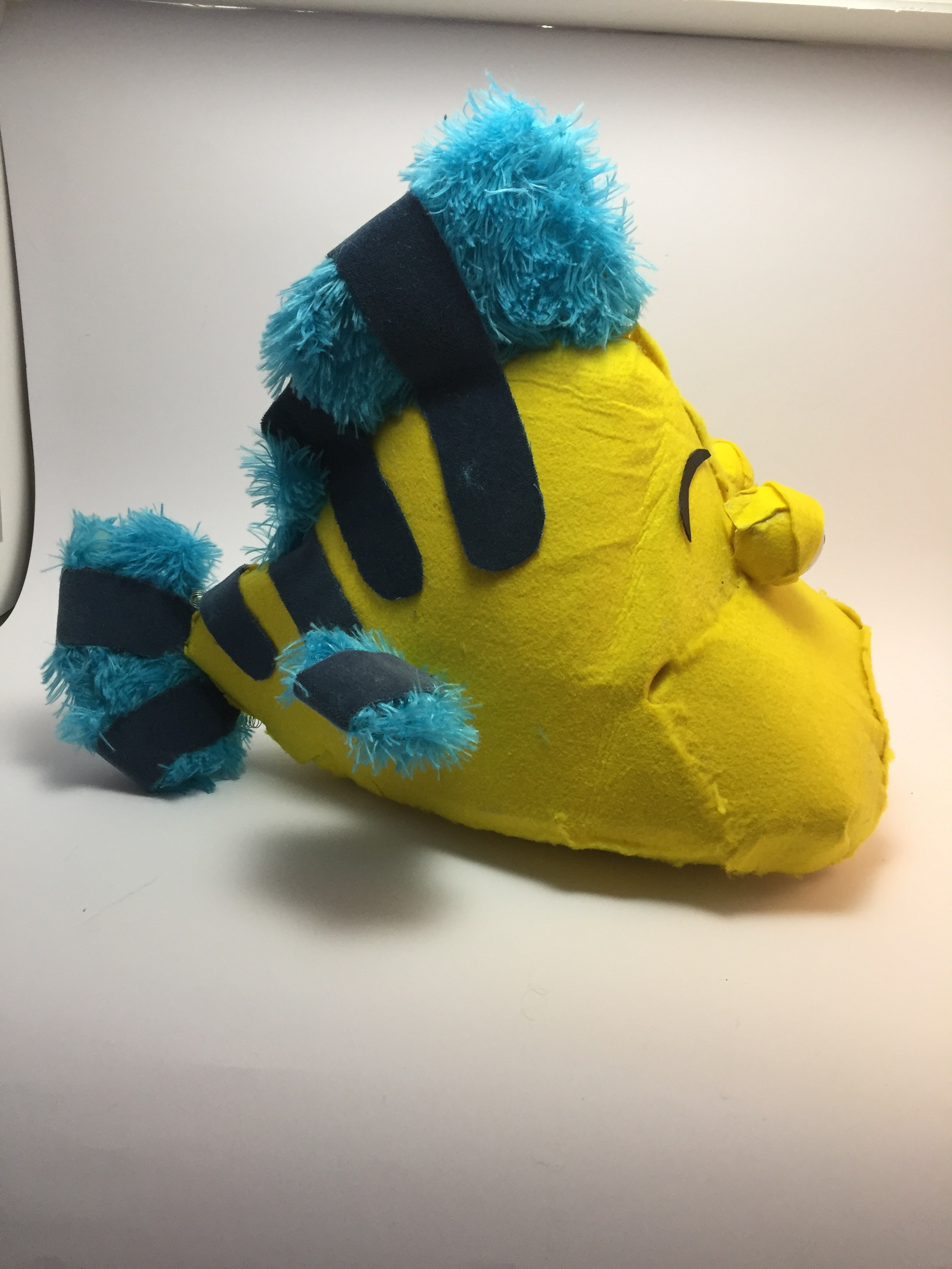 Close up of Flounder Puppet