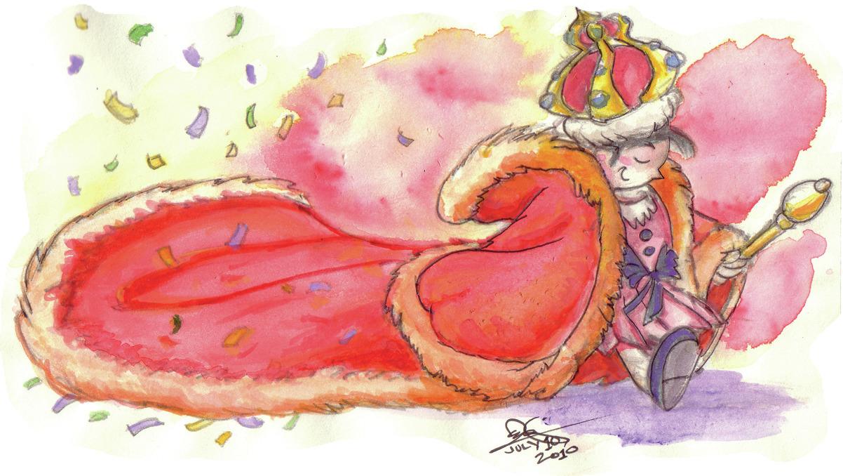 Princess , 2010, pencil, ink, and watercolor