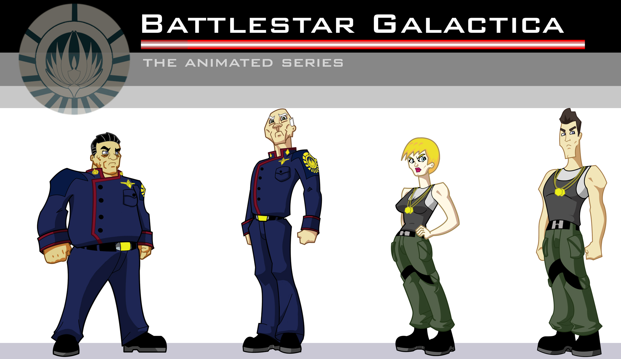 Battlestar Galactica Animated Concept Art , pencil, digital ink and color, 2010