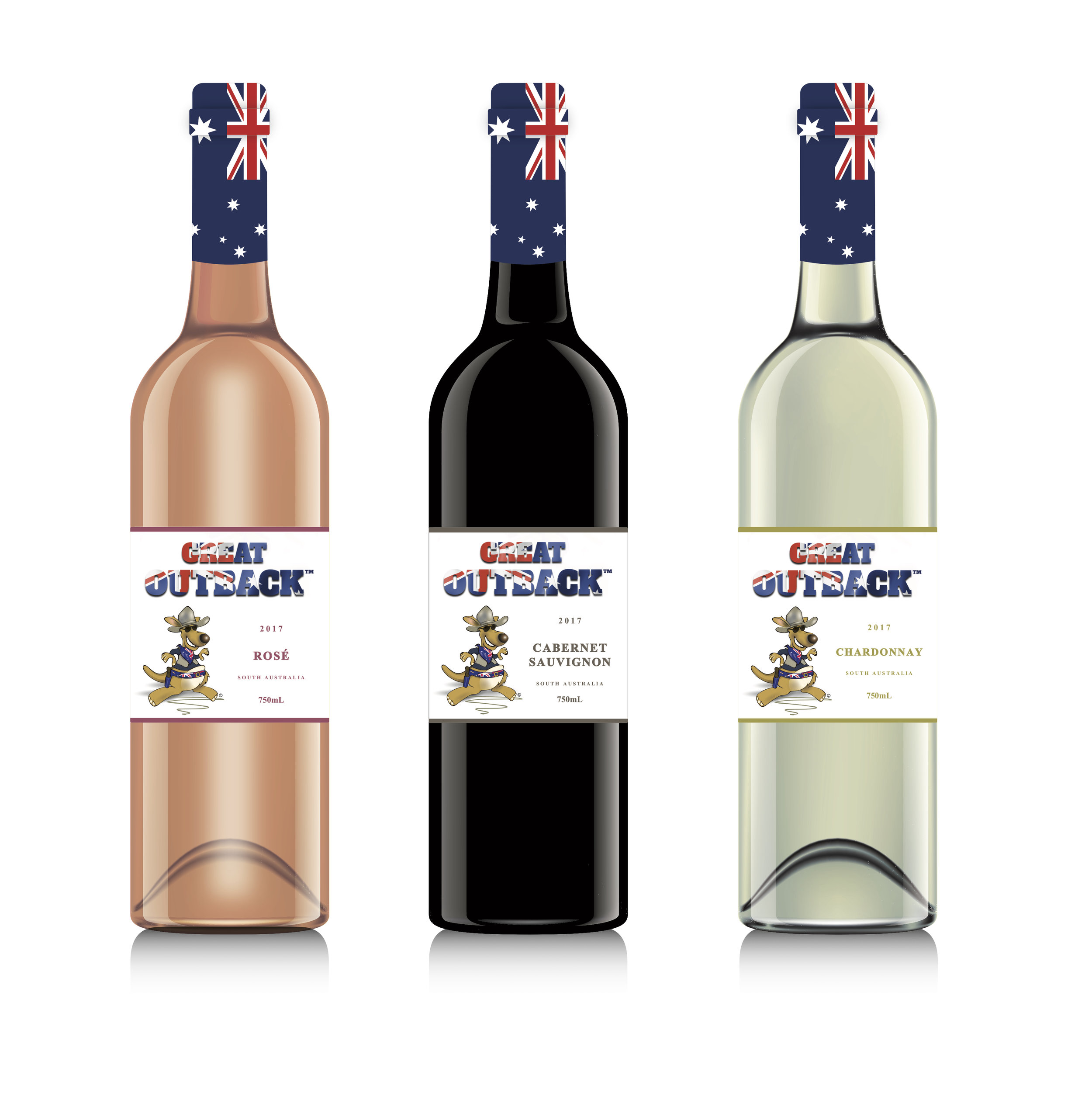 A taste of the Great Outback - The classics Rosé, Cabernet Sauvignon, & Chardonnay in a new look with a great taste!Great Outback wine, brings you something classic in a brand new look, that appeals to consumers all across the world! Made from high quality grapes from Australia!