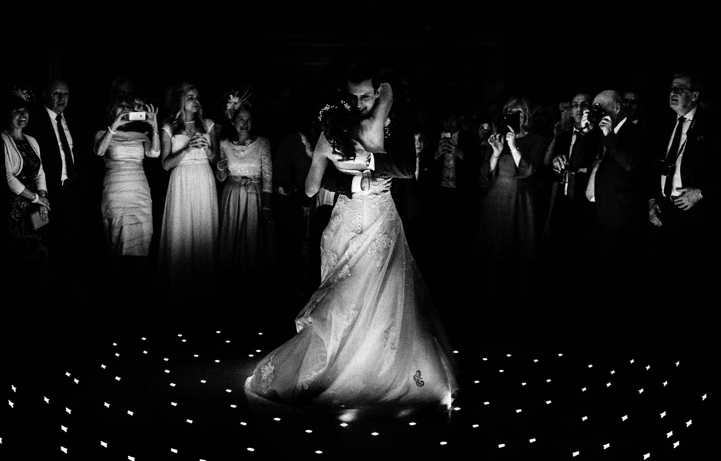 first dance at Whitley Hall Wedding Venue photographer