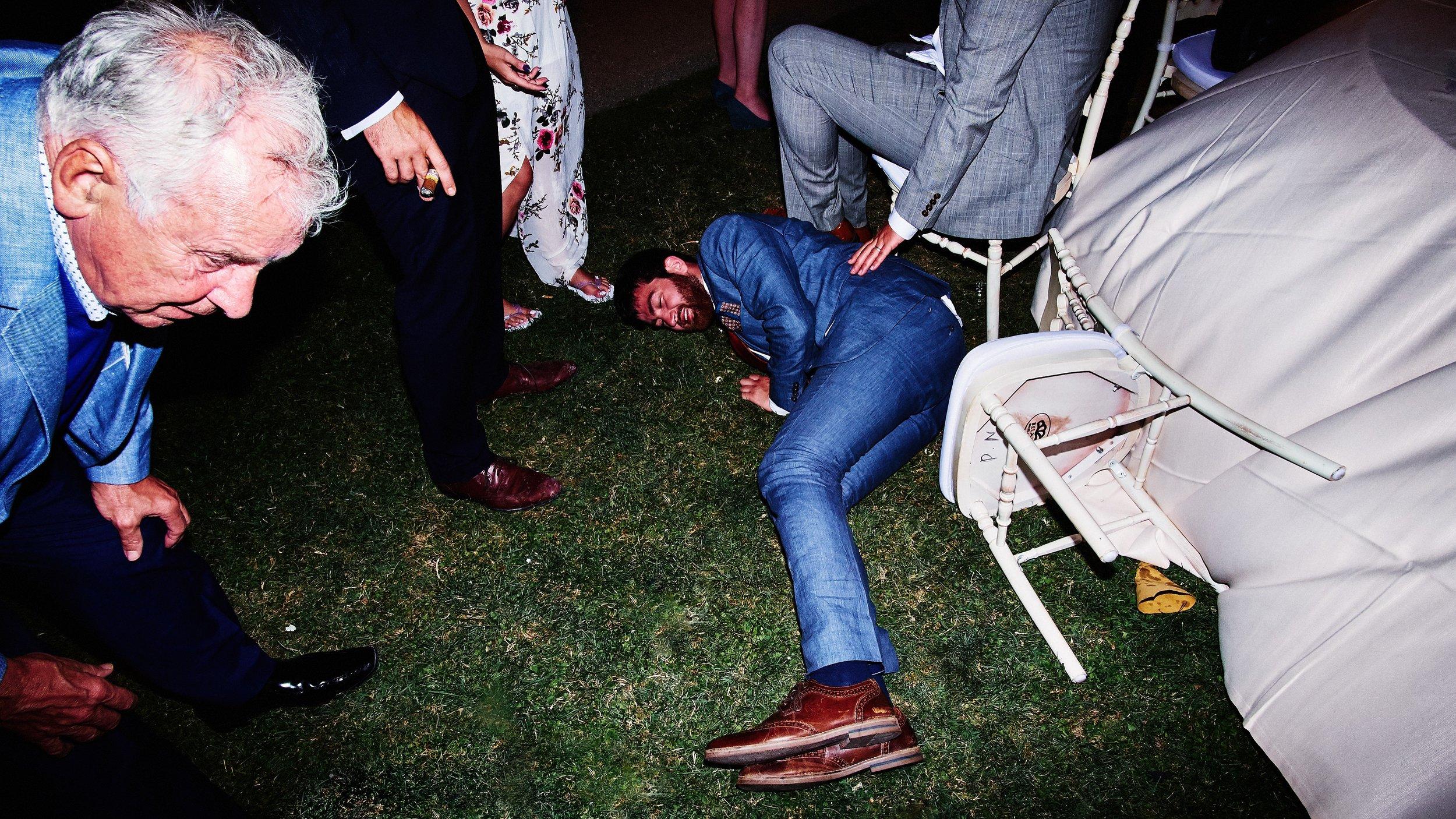 drunk wedding guests como italy